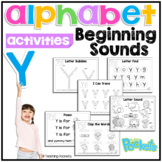 Y Beginning Sound Letter of The Week Activity Pack