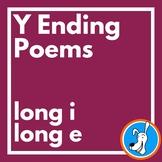 Y Ending:  Long i and Long e