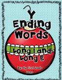 Y Ending Words - Long Vowel E or I-