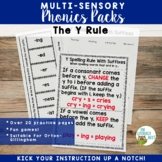 The Y Rule Multisensory Spelling Practice: Supports Orton-Gillingham Lessons