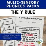 Orton-Gillingham Spelling Rule: Y Rule Multisensory Practice