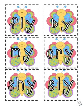 Y Vowel Sound Literacy Station Pack (Long /i/ and Long /e/ sound)