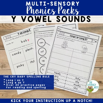 Y Vowel Sounds Multisensory Reading and Spelling Activities Orton-Gillingham