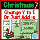 Y Words - Change y to ies or Just Add S- Christmas