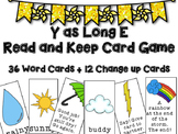 Long Vowel Card Game: Y as Long E Vowel - Read and Keep Card Game