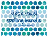 Y as Vowel Spelling Resources
