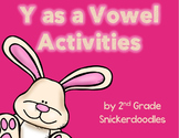 Y as a Vowel Activities