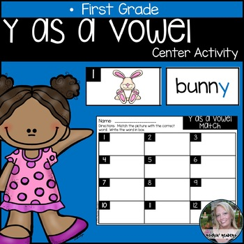 Y as a Vowel Literacy Center Activity