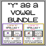 Y as a Vowel Long E & Long I Google Classroom Distance Learning Boom Cards PPT