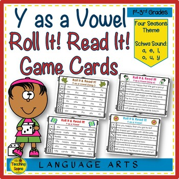 Y as a Vowel Roll It! Read It! Game Cards