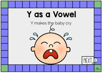 Y as a Vowel Spelling Rule Digital Boom Task Cards