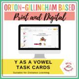 Y as a Vowel Task Cards | Print & Digital | Google Slides™
