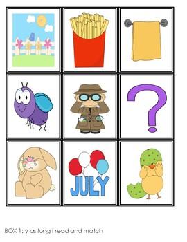 Y as a Vowel Task Cards [Task Box]
