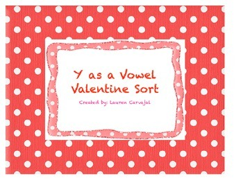 Y as a Vowel Valentine Sort