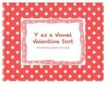 Y as a Vowel Valentine Sort