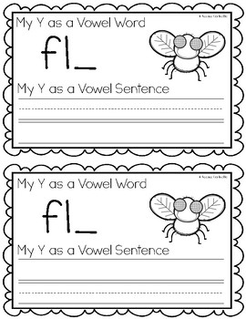 Y as a Vowel Writing Book
