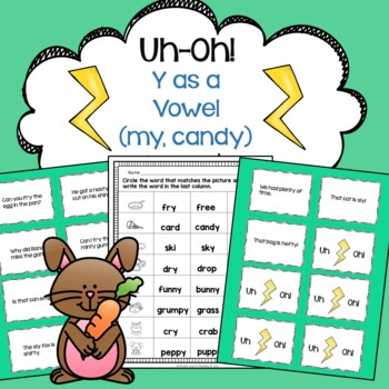 Y as a Vowel (my, candy) Fluency Game Uh-Oh!