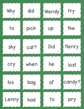 Y as a Vowel (my, candy) Practice