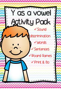 Y as a vowel Activity Pack *No Prep*