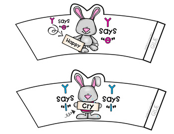 Y as i or e Bunny sorting cups