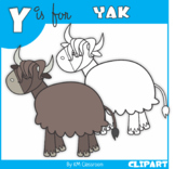 Y is for Yak Clip Art