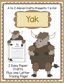 """""""Y"""" is for Yak Craft and Letter Tracing"""