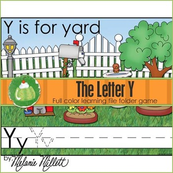 Y is for Yard File Folder Game