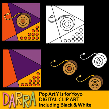 Y is for Yoyo clipart - interactive pop art clip art