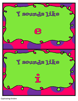 Y sound like i or e?