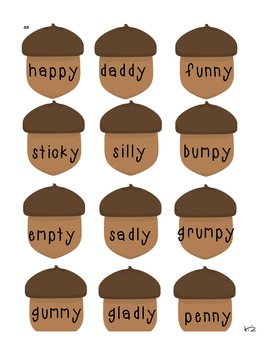 Y vowel sound Word Sort (long i and long e)