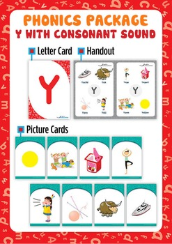 'Y' (with consonant sound) Phonics Resource Package