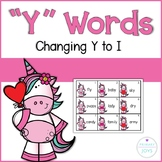 """""""Y"""" words - (adding -s or -es to """"Y"""" ending words)"""