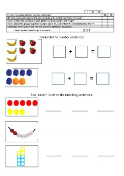 Y1 planning and resources for White Rose Maths Block 2 Addition and subtraction
