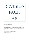 Y13 Complete revision pack writing speaking