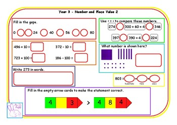 Y3 number and place value morning mats (double sided)