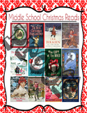 Middle Grades Christmas Reads!!  Book Recommendations Poster