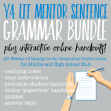 YA Lit Mentor Sentence Grammar Bundle PLUS Interactive Online Handouts