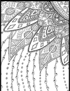 YA (Middle Years/High School) Coloring Pages - Sample