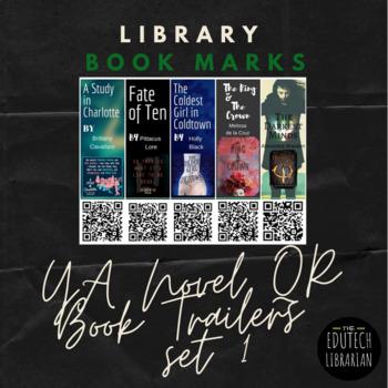 YA Novel QR Codes Book Trailers Bookmarks