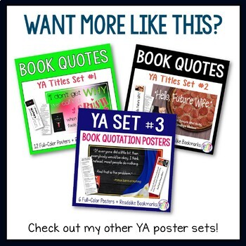 YA Quotation Posters--Steelheart Freebie