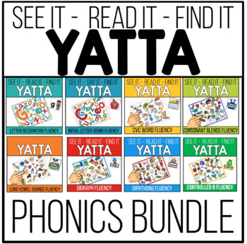 YATTA Phonics Skills Bundle - In Color and Black/White (Gr