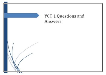 YCT 1 Questions and Answers