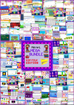 YEAR 1 Maths Smart Notebook and Unit of Work MEGA BUNDLE 4