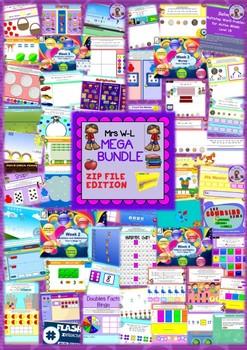 YEAR 1 Maths Smart Notebook and Unit of Work Number Strand MEGA BUNDLE 1