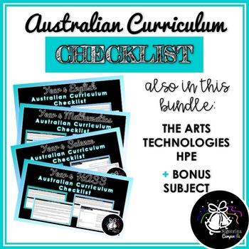 YEAR 4 AUSTRALIAN CURRICULUM CHECKLIST