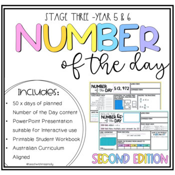 VERSION 2 - STAGE THREE NUMBER OF THE DAY - INCLUDES 50 ACTIVITIES & A.C ALIGNED
