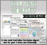 YEAR 9 GEOGRAPHY - PRINT OR DIGITAL FULL UNIT (AUSTRALIAN