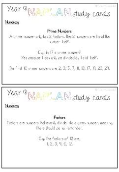 YEAR 9 NAPLAN STUDY CARDS