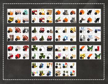 YEAR BUNDLE - Calendar Cards/Numbers - Real Photos