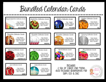 YEAR BUNDLE - Calendar Cards/Numbers - Real Photos